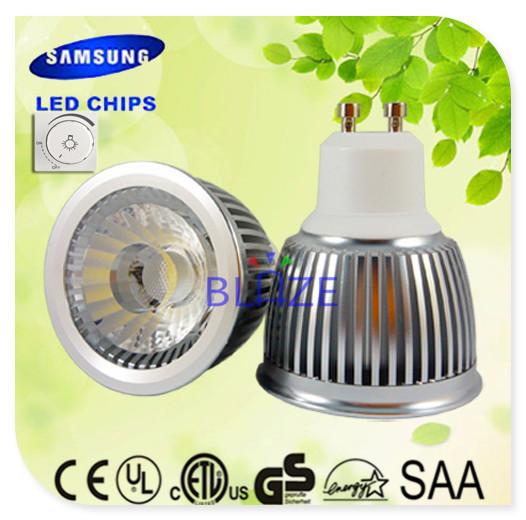 Dimmable SAMSUNG AC COB GU10 6W No Driver LED Spotlight GU10 LED bombillas 60mm Replace 50W Halogen lamps 50pcs/Lot(China (Mainland))