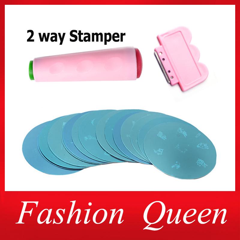 81Designs Nail Art Stamping,10pcs Stamp Image Plates and Scraper Template Set For Manicure,DIY Nail Polish Konad Mould Tools(China (Mainland))