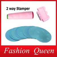 81Designs Nail Art Stamping,10pcs Stamp Image Plates and Scraper Template Set For Manicure,DIY Nail Polish Konad  Mould Tools