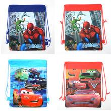 2014 envío gratis caliente! Nuevo! De dibujos animados mochilas niños dos caras impresas mochilas escolares para niños no- tejido bolsos de lazo q-005(China (Mainland))