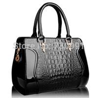 2014 Hot Brand Crocodile Grain High-Quality Multicolor Leather Women Handbag Women Messenger Bags Shoulder Bags women's bag