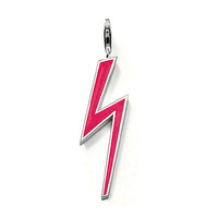 New Neon Lightning Charm Pendant silver pendant and enamalled pendant necklace punk jewelry free shipping