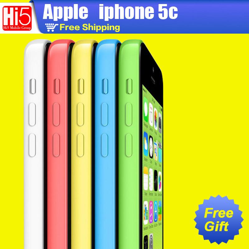Apple iPhone 5C phone 16GB Factory unlocked 8MP Camera Dual Core 4.0 Capacitive Screen GSM HSDPA WiFi GPS ISO Free Shipping(China (Mainland))
