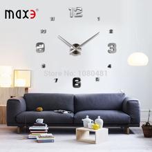 Home decoration large digital wall clock Modern design,big decorative sticker wall clocks wall watches unique gift free shipping(China (Mainland))