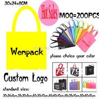 custom printed logo gift non woven bag/promotion hand handle non-woven cloth bag for fashion/shopping bag