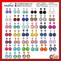 Neue mode Absatz heißer verkauf ohrringe 2014 beidseitig glänzenden perle( 16mm) ohrstecker große perle ohrringe für frauen