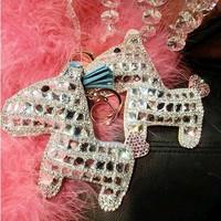 Lucky Horse latest authentic Korean crystal rhinestones pony car bag key chain  hanging lady fashion