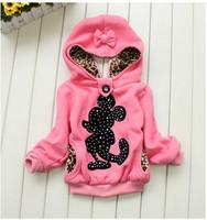 2014 autumn meninas vestir girls cotton Minnie coat minnie sweatshirt children hoodies Blusas Moleton Infantil sweats de enfants
