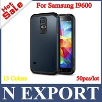 50PCS Hot Selling SGP SPIGEN Hybrid TPU+PC Tough Armor Cover Case for Samsung Galaxy S5 SV S V I9600 with 13 Colors [S5-03]