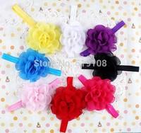 Infant Hair Band toddler handband  Baby girls hairbands chiffon flower children elastic hair band Hair accessories