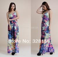 Long/Maxi Plus size Casual summer beach dress women dress XL-5XL FreeShipping