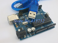 Free shipping !  UNO R3 MEGA328P ATMEGA16U2 with usb cable for Arduino Compatible