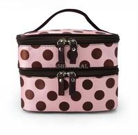 Beautician 4 Colors Cosmetic Makeup Bag Women's Organizer Bag Handbag Travel Bag Double Cosmetic Bag  SV000170 #003