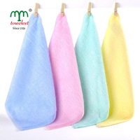 New 2014 Best Selling  - 10PC 25*25cm  Bamboo Fiber Baby Towel Hand Towel Baby Bibs Face Cleansing Cloth 090004