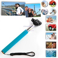 New Arrival! Monopod Extendable Hand Held Monopod for Camera DV Camcorder Video Holder Self Photo Travel Blue B20 SV000792