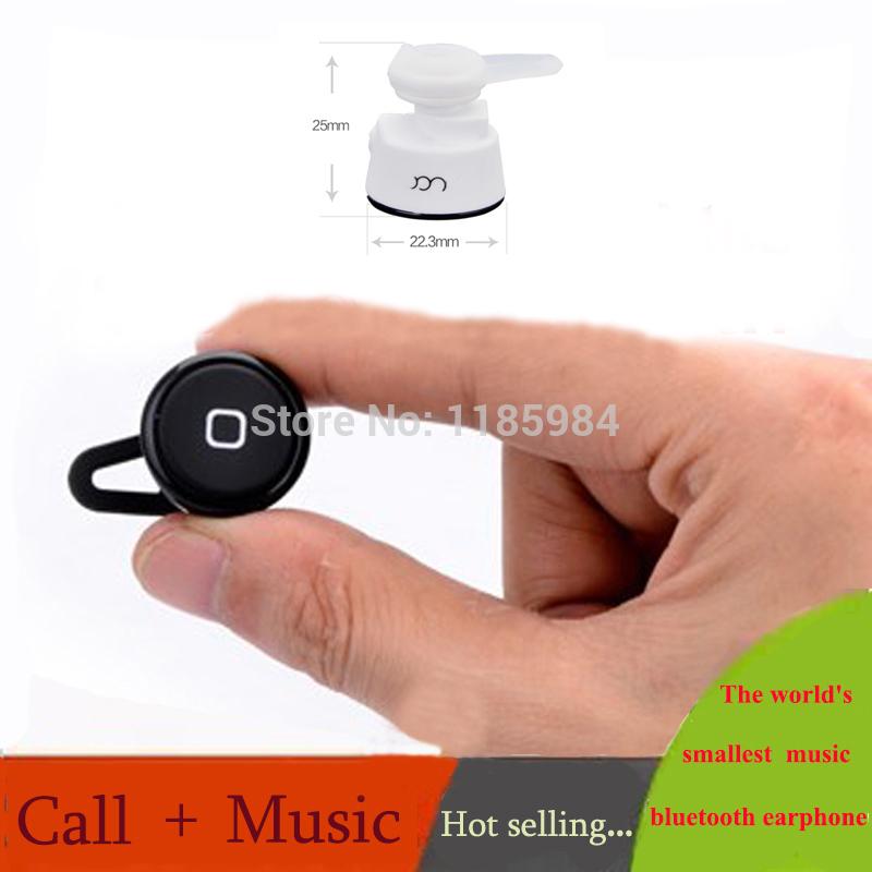 Wholesale Price Wireless Stereo Bluetooth Headset Earphone Super Mini General Mobile Phone Computer Headphones Free Shipping(China (Mainland))