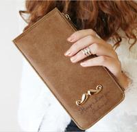 22Card beard women female long slim thin leather wallet purse business credit card holder passport cover carteiras femininas 45