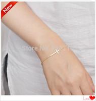$10 free shipping vintage Simple style Cross bangle bracelet women hand chain pulseiras