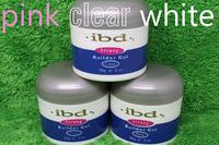 3 color (clear+pink+white) Acrylic Nail Art UV nail Gel saloon profesional nail art IBD Builder Gel 2oz / 56g