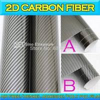 2D Glossy Carbon Fiber Car Vinyl Wrapping film Glossy Foil Sticker Air Free  1.52x30m