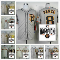 San Francisco Giants  Buster posey/Lincecum / Bumgarner /Pablo Sandoval/ Peavy  Baseball Jersey  Stitched W/2014 Champion patch