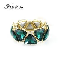 Green Fluorescent Simulated Gemstone Elastic Designer Bracelets Bangles New 2014 Spring Personalized Aliexpress Bijoux for Women