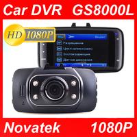 """GS8000L Car Dvr 1920*1080P 2.7""""+ HDMI+G-Sensor+4 IR Night Vision+140 Wide Angle Lens Novatek Car Camera Video Recorder GS8000"""