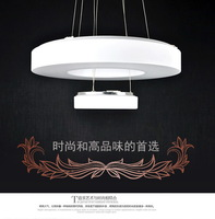 2014 latest hot products listed  , LED light, simple and stylish ,double round pendant lamp  room lamp Study lamps