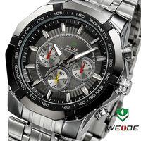 2014 WEIDE Watches men luxury brand fashion casual military quartz watch relogio masculino full stainless steel men wristwatch