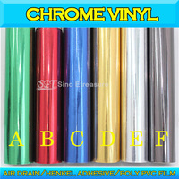 Chrome Mirror Color Changing Chrome Glossy Car Body Sticker Vinyl Wrap with Air Free  1.52x30m/5ft*98ft
