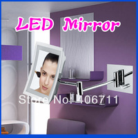 free shipping by fedex/DHL Beauty Makeup Mirror illuminated bathroom mirrors Led magnifying decorativeBath Mirror with light