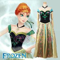 Frozen cosplay costume Anna's Dress