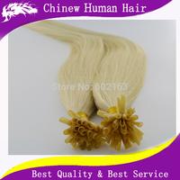 18'' ~ 24'' 100g/pack Brazilian Virgin Hair Pre Bonded Nail Straight U Tip Keratin Glue 100% Remy Human Hair Extension