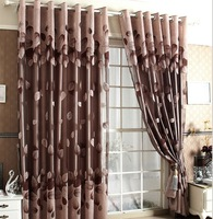 Jacquard & Embroidery Luxury Curtain For Living Room Tulle + 100% Blackout Curtain 150*250cm Curtains For Window/Hotel
