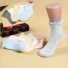 Fashion Lovely Sweet Princess Lace Cotton Socks For Girls 2014 Spring Summer Children Ankle Socks Kids And Boys Mesh Socks S06(China (Mainland))