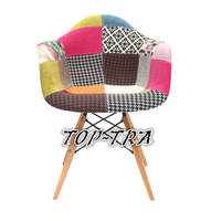 Eames DAW armchair Fashion design fabric cover living room furniture dining chair plastic armchair cadeira silla