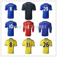 2014/15 HOME/AWAY goalkeeper GK CECH/ETO/OSCAR/HAZARD/LAMPARD/DIEGO COSTA /TERRY/FABREGAS soccer jersey Thailand quality shirts