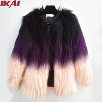 NBA210 Women Faux Fur Coat Free Shipping New 2014 Luxury High Quality Long Faux Fur Jacket Noble Heavy Hair Collar Outwear