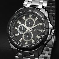 New Fashion 2014 Brand Japan Movement Full Steel Men Quartz Man Clock Sports Watches Timekeeper Relojes Montre Homme