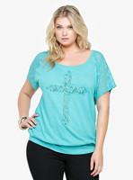 XXL-5XL Plus Size Casual Women Lace Cross Raglan T-Shirt Tee Top Big Large Size Oversize XXXXL XXXXXL 2014 New Fashion Summer