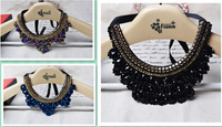 2014 New Fashion Statement Jewelry Handmade False Collar Necklace Fashion Crystal Beads Charm Choker Necklace,1pcs/lot