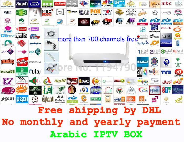 Remote Control Free, Arabic IPTV Box, 600 Plus IPTV Arabic Channel TV Box, Android 4.2 WiFi HDMI Smart Android Mini PC TV Box(China (Mainland))