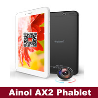 "7"" Phablet Ainol AX2 MTK8312 Dual Core 512MB RAM Android 4.2 8GB Rom GPS Bluetooth 3G WCDMA Phone call tablet"