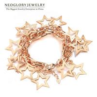 Neoglory Fashion Jewelry 14K Gold Plated Full of Stars Design Bracelets & Bangles for Female New 2014 Best Gift Elegant Go1