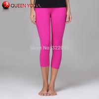 Summer Sports Wear For Women/Girls/Ladies/Female. Hot Pink VICTORIA Yoga Pants.Discount candy colors yoga capris/Leggings