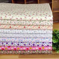 9 Assorted Floral Flower Printed Pre-cut Twill Cotton Quilt Fabric Fat Quarter Tissue Bundle Charm Sewing Textile 45x45cm Set B