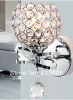Modern style Wall Lamp bedside lamp Bedroom Stair lamp Crystal wall Lights E14 Led single gold silver Color indoor lighting