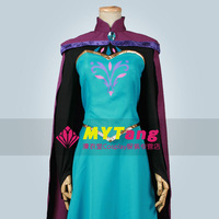 Frozen cosplay adult costume snow queen Elsa's Coronation Dress