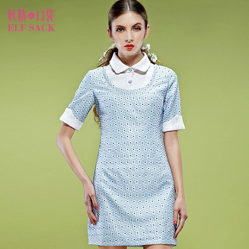 Elf SACO marca de moda nova roupa por atacado frete grátis hot chinese meninas chegada faux dois vestidos de verão blusa curta peça(China (Mainland))