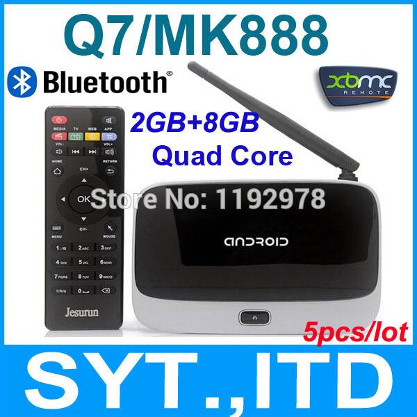 5pcs MK888B Q7 CS918 TV Box Android 4.2.2 Quad Core RK3188 2GB 8GB Cortex A9 Wifi XBMC Mini PC K-R42 Bluetooth Version(China (Mainland))